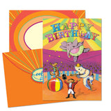 UNDER THE BIG TOP BIRTHDAY CARD