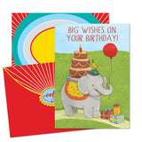 Sending Big Wishes Birthday Card