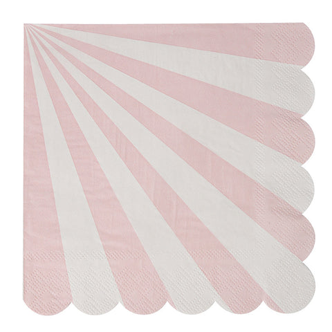 Toot Sweet Pale Pink Stripe Small Napkin