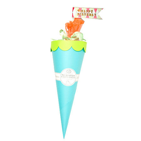 "GRANDE SURPRISE CORNUCOPIA 32""-BLUE & LIME"