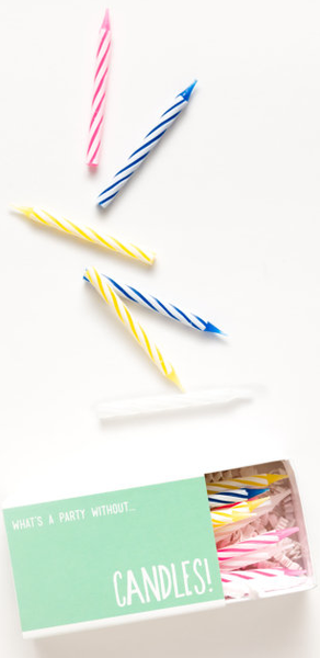 BIRTHDAY BOX CANDLES