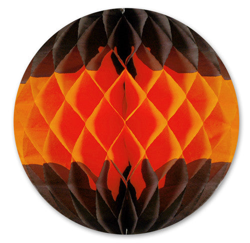 Orange & Black Halloween Honeycomb Ball