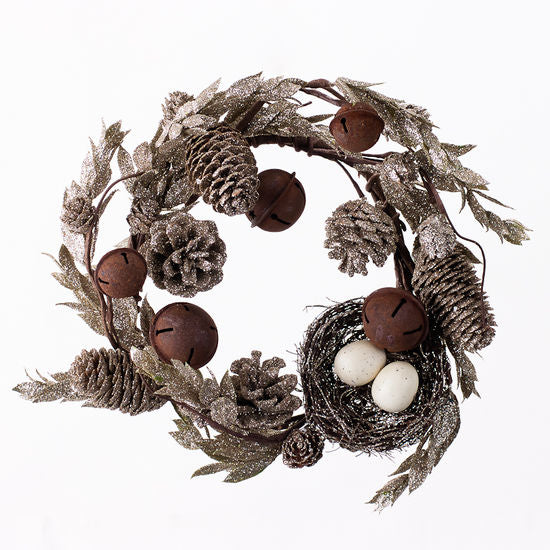 Winter Cone Wreath