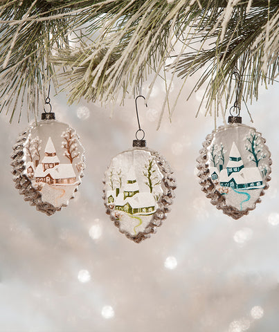 Pastel Winter Scene Ornament