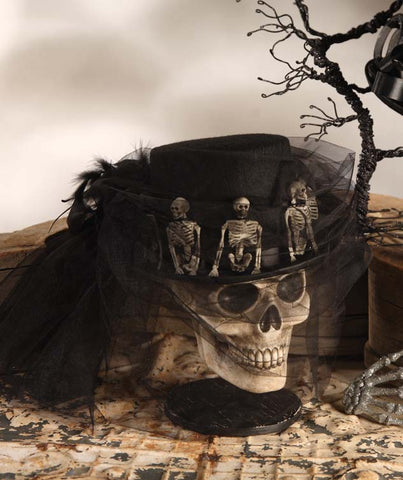 Skeleton Riding Hat