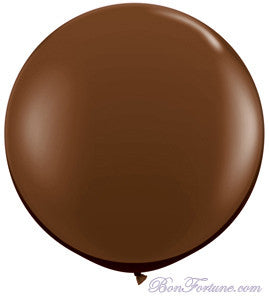 Giant Round Balloon-Chocolate Brown