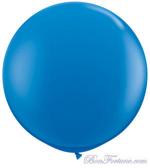 Giant Round Balloon-True Blue