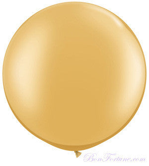 Pearl Round Balloon-Metallic Gold