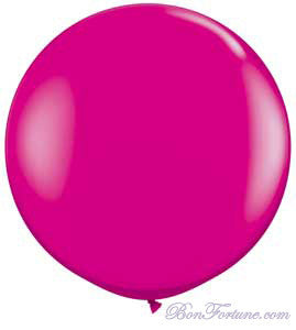 Giant Round Balloon-Peony Pink