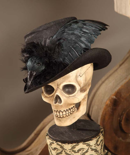 Haunted Raven Top Hat