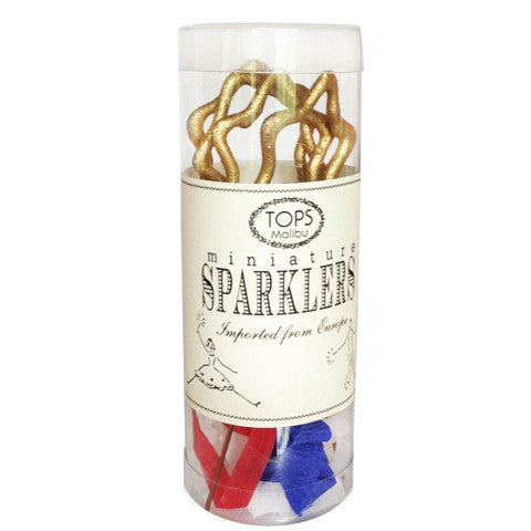 Mini Patriotic Star Dessert Sparklers