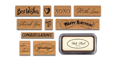 GREETINGS-RUBBER STAMP
