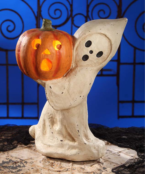 Ghost with Pumpkin Luminary