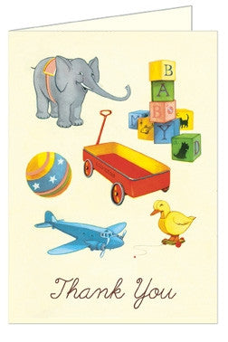 Vintage Toys Thank You Cards