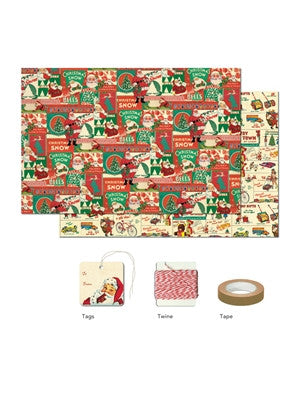 Vintage Christmas Wrap Pack