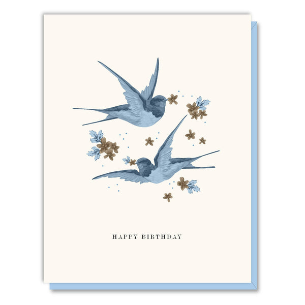 Birthday Blue Birds Card