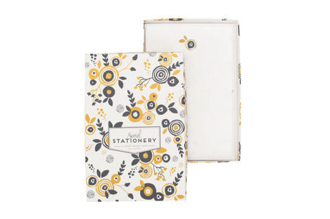 Floral Social Stationery, Set of 12