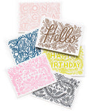 LETTERPRESS HAPPY BIRTHDAY