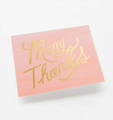 Ombre Thank You Cards