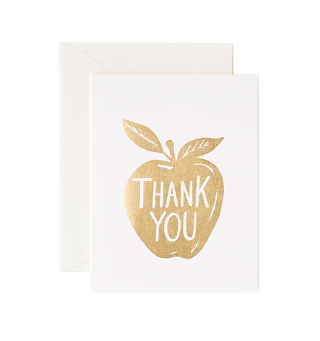 GOLDEN APPLE THANK YOU CARD