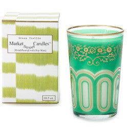 GREEN TRELLIS TEA CANDLE