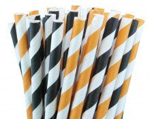 Halloween Striped Straws