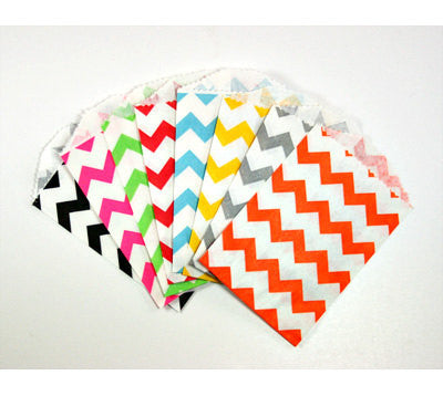 Chevron Print Treat Bags