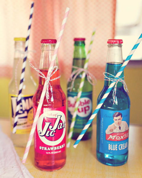 Tall Soda Pop Straws
