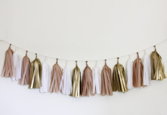 Tissue Tassel Garland Kit-Golden
