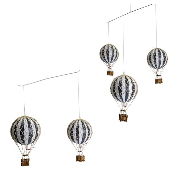 Flying the Skies Hot Air Balloon Mobile, Black/White Colors