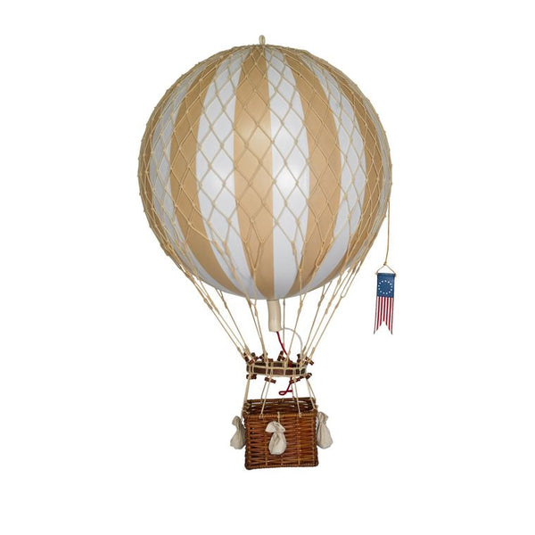 "Royal Aero Hot Air Balloon 22"", White and Ivory Colors"
