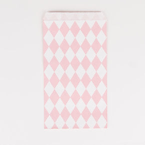 Pink Diamond Paper Gift Bags, Set of 10