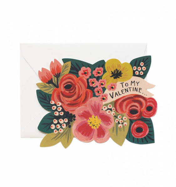 To My Valentine-Die Cut Flat Note Card