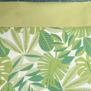 Tropical Foliage Green Fabric, Tree Huggers Collection by Maude Asbury For Blend Fabrics