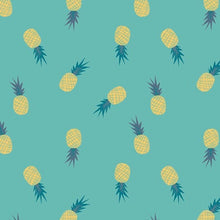 Load image into Gallery viewer, Ananas Aqua Fabric, Sirena Collection by Jessica Swift For Art Gallery Fabrics