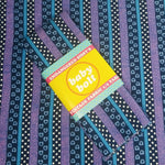 Load image into Gallery viewer, VINTAGE FABRIC BABY BOLT HALF-YARD -  FIFTIES' STRIPE, POLKA DOT & SHAPES PRINT IN BLUES & PURPLES