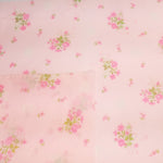 Load image into Gallery viewer, VINTAGE FABRIC BABY BOLT HALF-YARD -  SEVENTIES' SEMI-SHEER FLORAL IN ROMANTIC PASTEL PINK