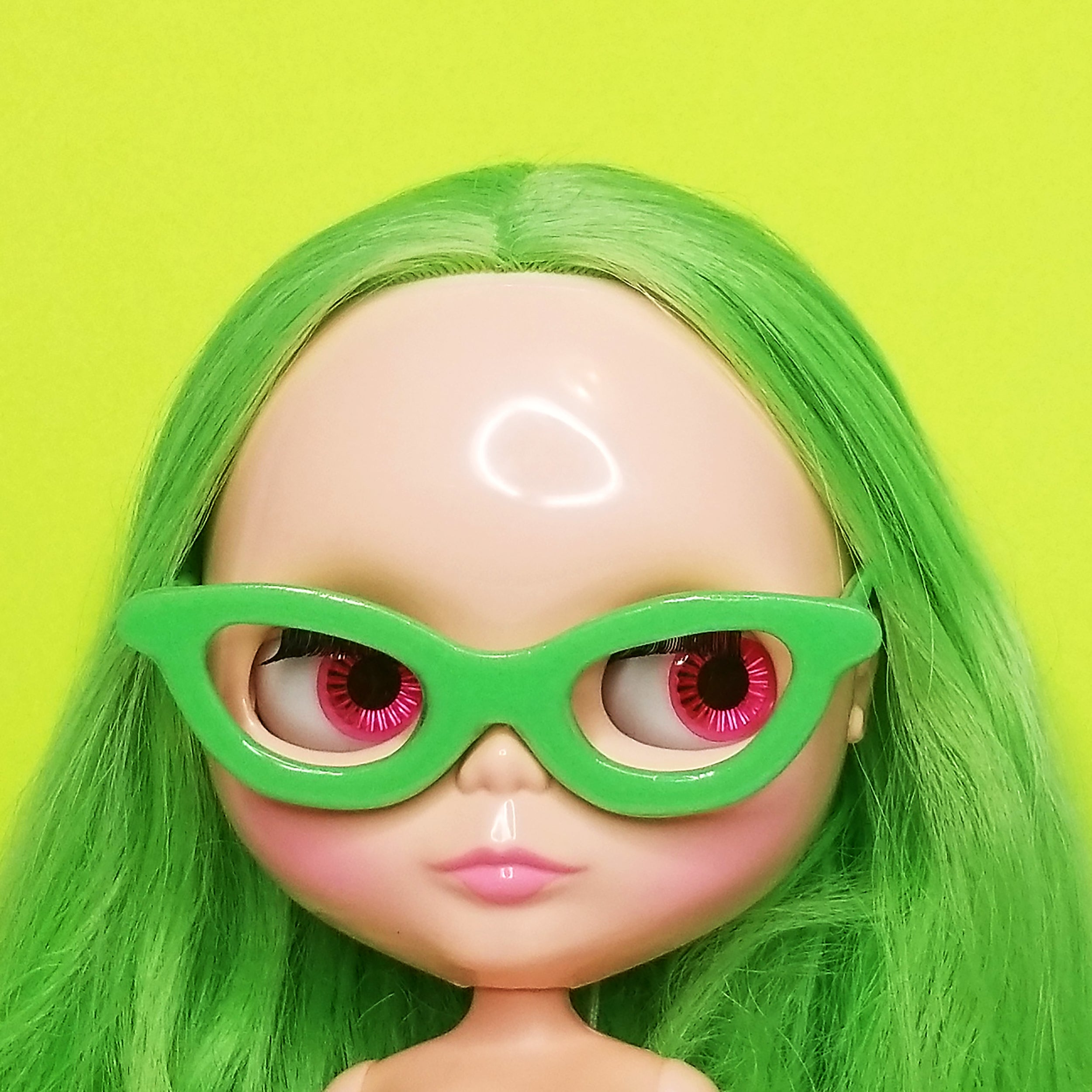 SISSY SPEX CAT'S EYE GLASSES - GREEN