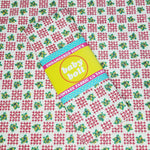 Load image into Gallery viewer, VINTAGE FABRIC BABY BOLT HALF-YARD -  EIGHTIES' HEARTS & FLOWERS PRINT IN RED, GREEN, YELLOW & WHITE