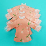 Load image into Gallery viewer, FLOCKED FROCKS COLLECTION - GIRLY-GIRL MINI-DRESS - PEACH