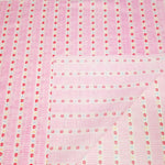 Load image into Gallery viewer, VINTAGE FABRIC BABY BOLT HALF-YARD -  SIXTIES' GINGHAM & FLOWER STRIPE RIBBON PRINT IN PINK, WHITE & PRETTY PRIMARIES