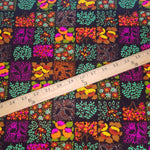 Load image into Gallery viewer, VINTAGE FABRIC BABY BOLT HALF-YARD -  SEVENTIES' HAWAIIAN FLORAL PRINT IN BRIGHTS & BROWN