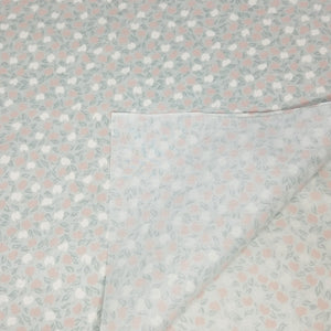 VINTAGE FABRIC BABY BOLT HALF-YARD -  EIGHTIES' APPLE PRINT IN OFF-WHITE, LIGHT ORANGEY-BROWN ON SAGE GREEN