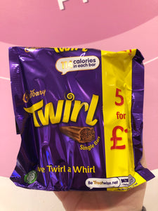 Cadbury Twirl single bars-5pk