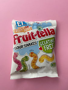Fruit-tella Sour Snakes-Vegan!