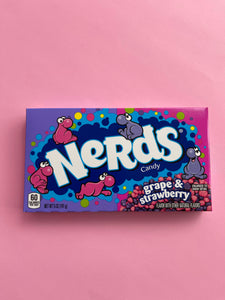 Nerds Grape and Strawberry Theater box
