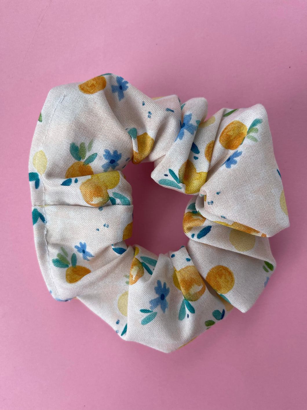 Spring Peaches Scrunchie