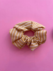 Yellow & White Scrunchie