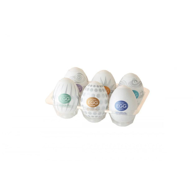 Tenga Easy Beat Egg 6pk - Hard Boiled