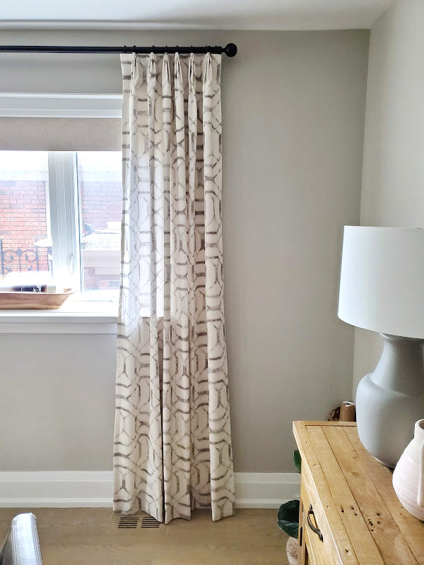 "Project Ferncroft: Stationary ""Faux"" Drapes"